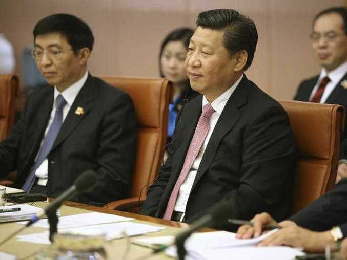 Chinese President Xi Jinping attends a ministerial meeting in Canberra Monday, Nov. 17, 2014. Xi is continuing his visit to Australia following the G-20 summit.