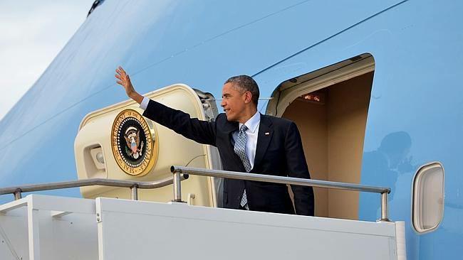 Barack Obama in Brisbane. Photo: Nicky Stewart