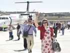 Maiden Wellcamp Airport flight connects Downs family