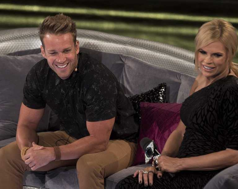 "Evicted Big Brother housemate Ryan ""Leo"" Burke-Gaffney with host Sonia Kruger."