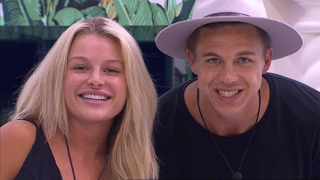 Big Brother housemates Skye Wheatley and Ryan Ginns.