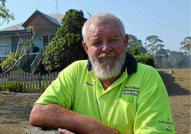 INSPIRED: Coonarr resident Stephen Turner watched crews battle a blaze near his home and is considering joining the service.