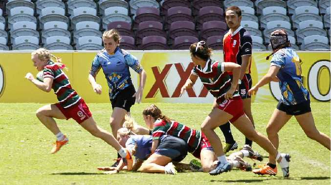 Emily Bass races away for Downs against Sunshine Coast at Ballymore.