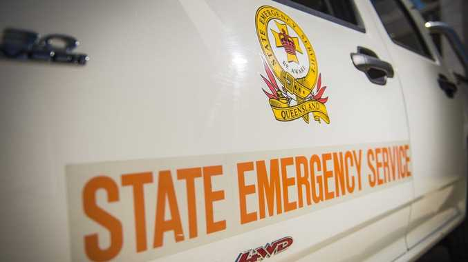 ON HAND: State Emergency Service helped clear up after the storm.