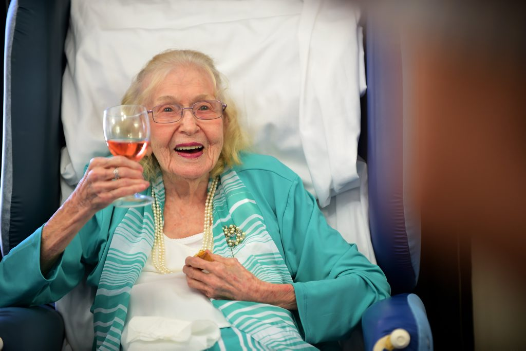 Monica Guy turned 108 surrounded by family and friends. Photo: Cade Mooney / Sunshine Coast Daily