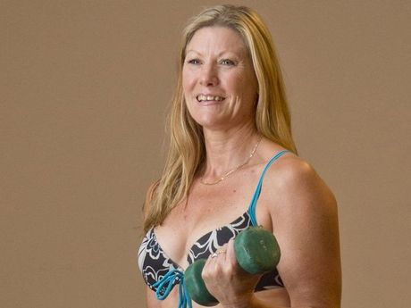 Janet Cross loves being fit enough to still wear a bikini at 45.