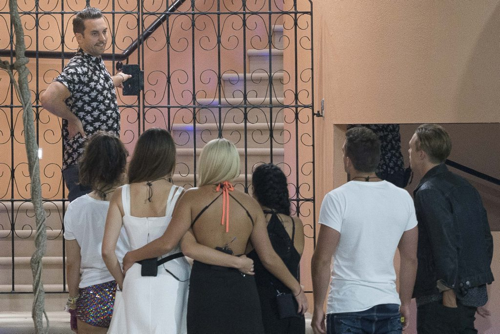 David Hodis farewells the Big Brother housemates after his eviction last night.