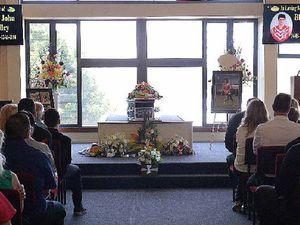 Hundreds join sad goodbye for Blake Bailey