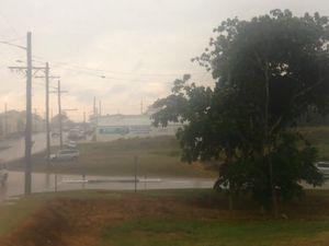 Skies darken with rain at 3pm
