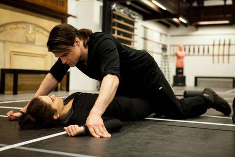 Zoey Deutch and Danila Kozlovsky in a scene from the movie The Vampire Academy.
