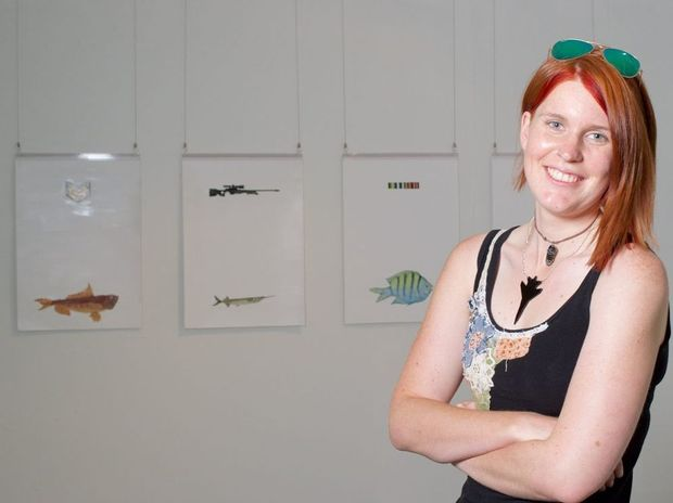 Kate Hallen will be among Southern Cross University students exhibiting artworks from Friday November 21.