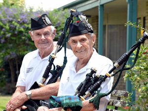 Brothers still loving every moment of bagpipes