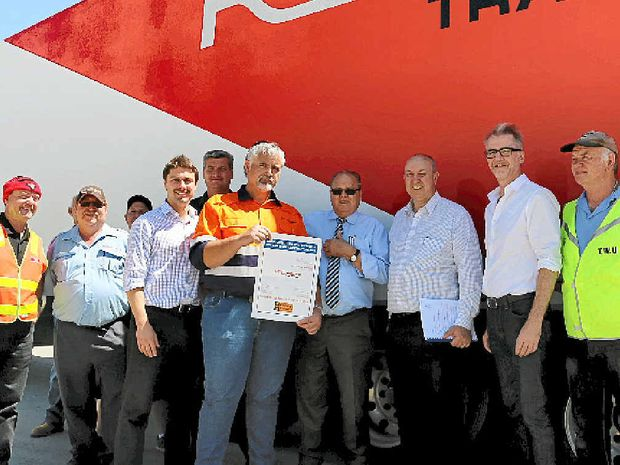 NEW DEAL: Drivers at Ron Finemore Transport are celebrating after a new enterprise agreement was reached.