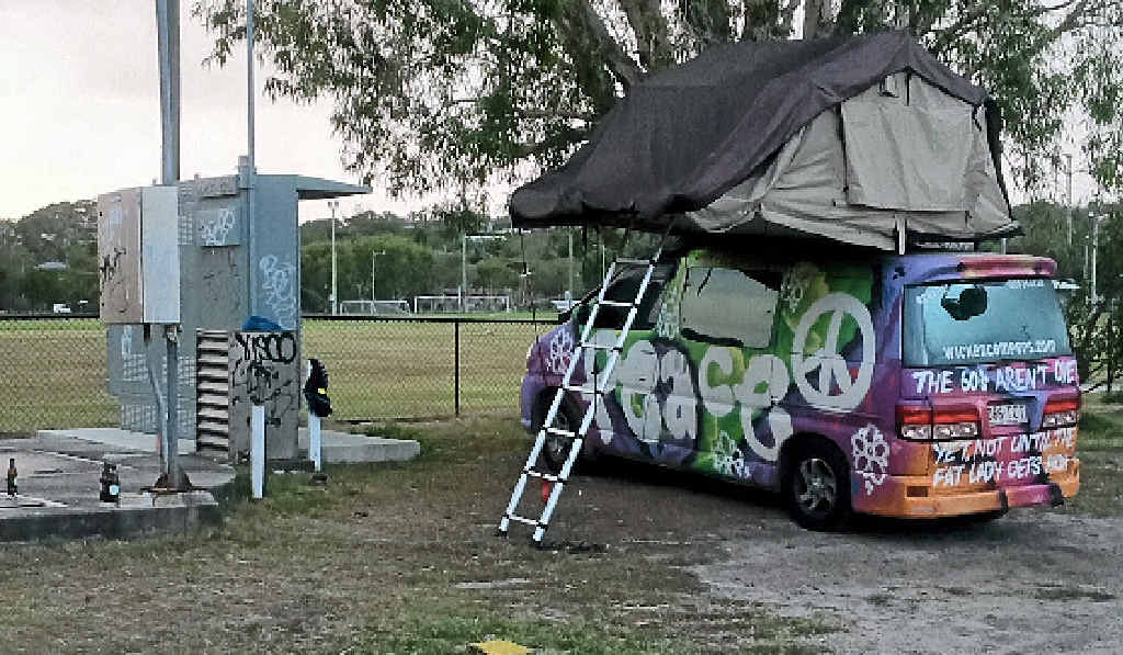 TRICKY PROBLEM: Illegal camping in Tennyson Street, Byron Bay.