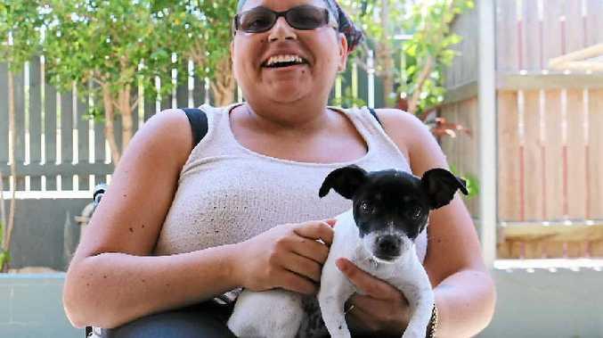 MATES: Bianca Jade's miniature foxy cross Jack Russell, named Alex, has been a blessing.