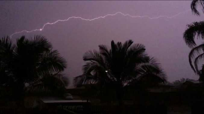 Jody Hammond posted this photo of lightning over Calliope during the storm on November 19.