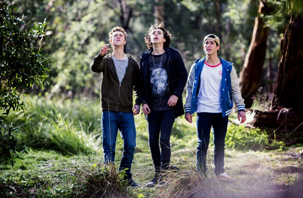 Matt Testro, Dougie Baldwin and Rahart Adams in Nowhere Boys season two.