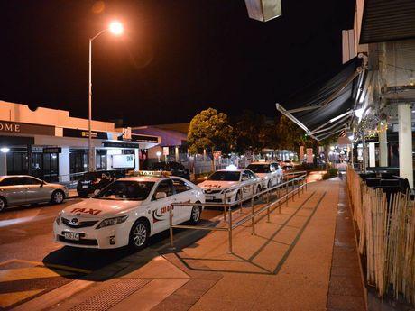 Ocean Street cab, taxi rank, Maroochydore.