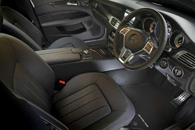 Inside the Mercedes-Benz CLS.