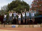 Pupils jump for joy on last day of school