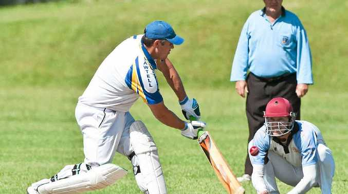 CLEVER STROKE: Sawtell's form batsman Ricky Welsh guides the ball to collect some runs. Photo: Rob Wright