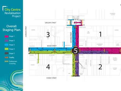 City Centre Revitalisation Project map.