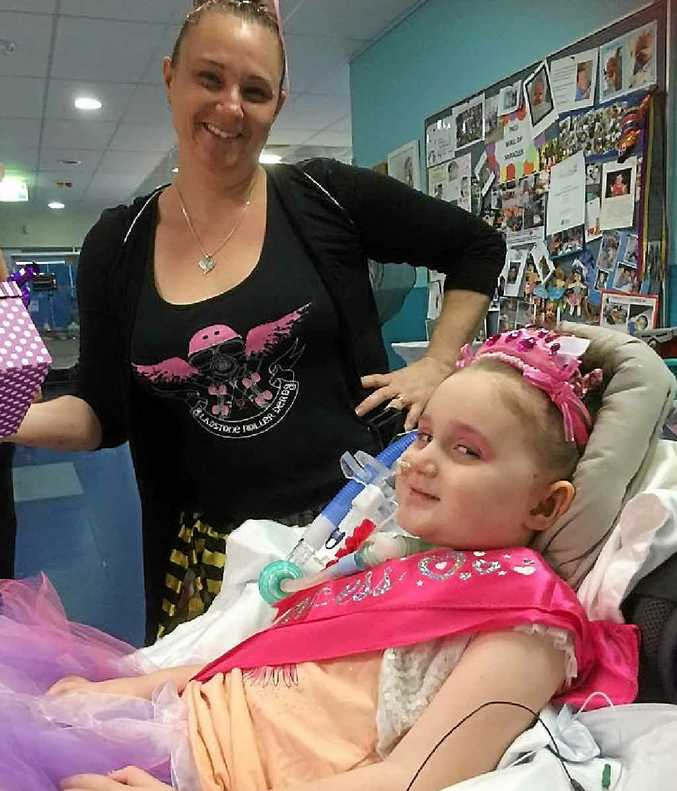 CHAMPION EFFORT: Tanya and Abi Wilkinson celebrating Abi's fourth birthday earlier in the month.
