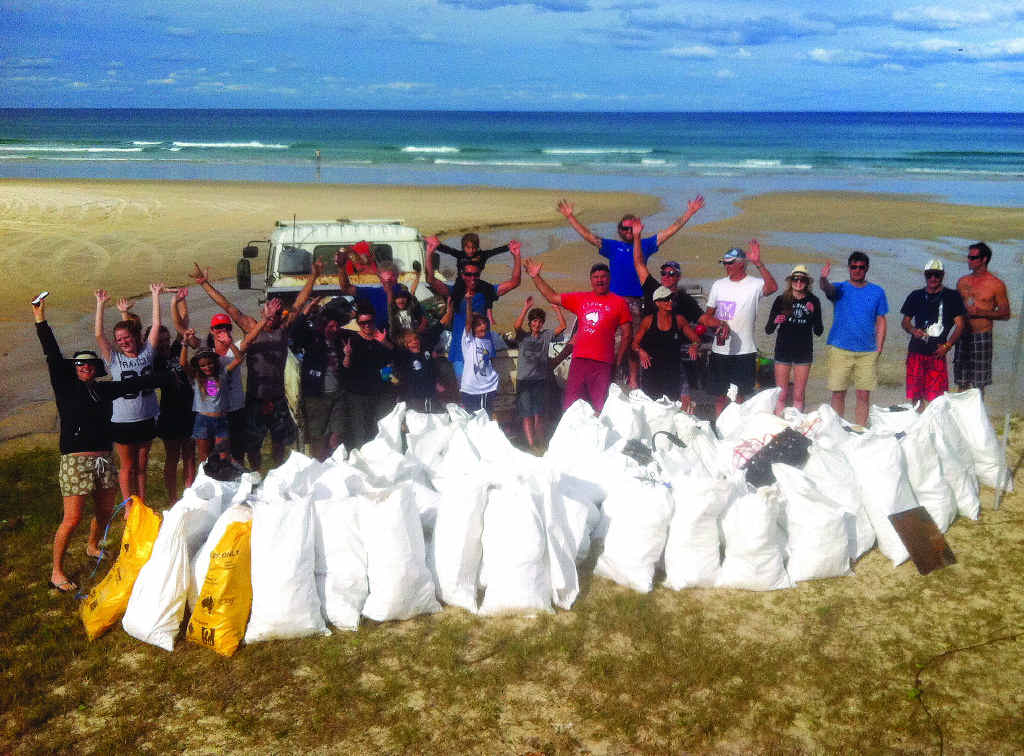 CLEAN UP: Surfrider Foundation Sunshine Coast pulled more than two tonnes of rubbish from the beach during a two-day operation in May.