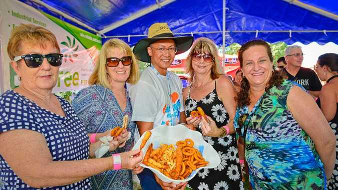 Seafood Festival goers enjoyed sunshine, great music and great food on Sunday at Gladstone Marina.
