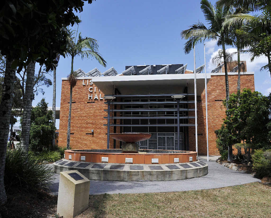 CRIME: Lismore City Hall, the scene of the alleged stabbing.
