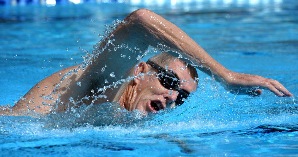 Mark Vining is in training for the 2014 Murwillumbah Tweed river swim classic. Photo: John Gass / Tweed Daily News
