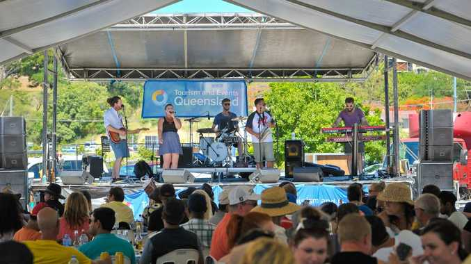 Mo Swagger playing at the Gladstone Seafood Festival.