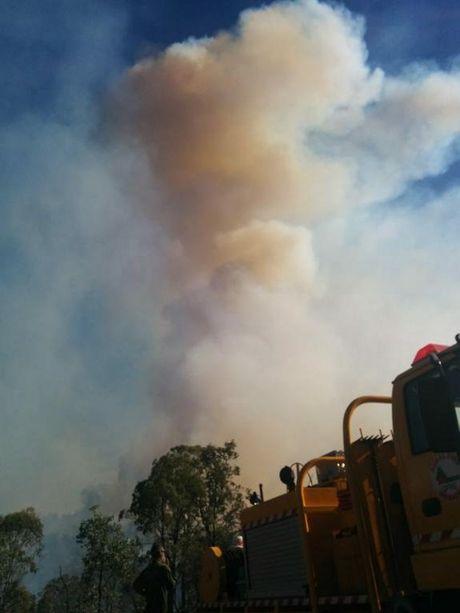 The fire in Teelah (south-east of Kingaroy). Photo Brandon Livesay / South Burnett Times