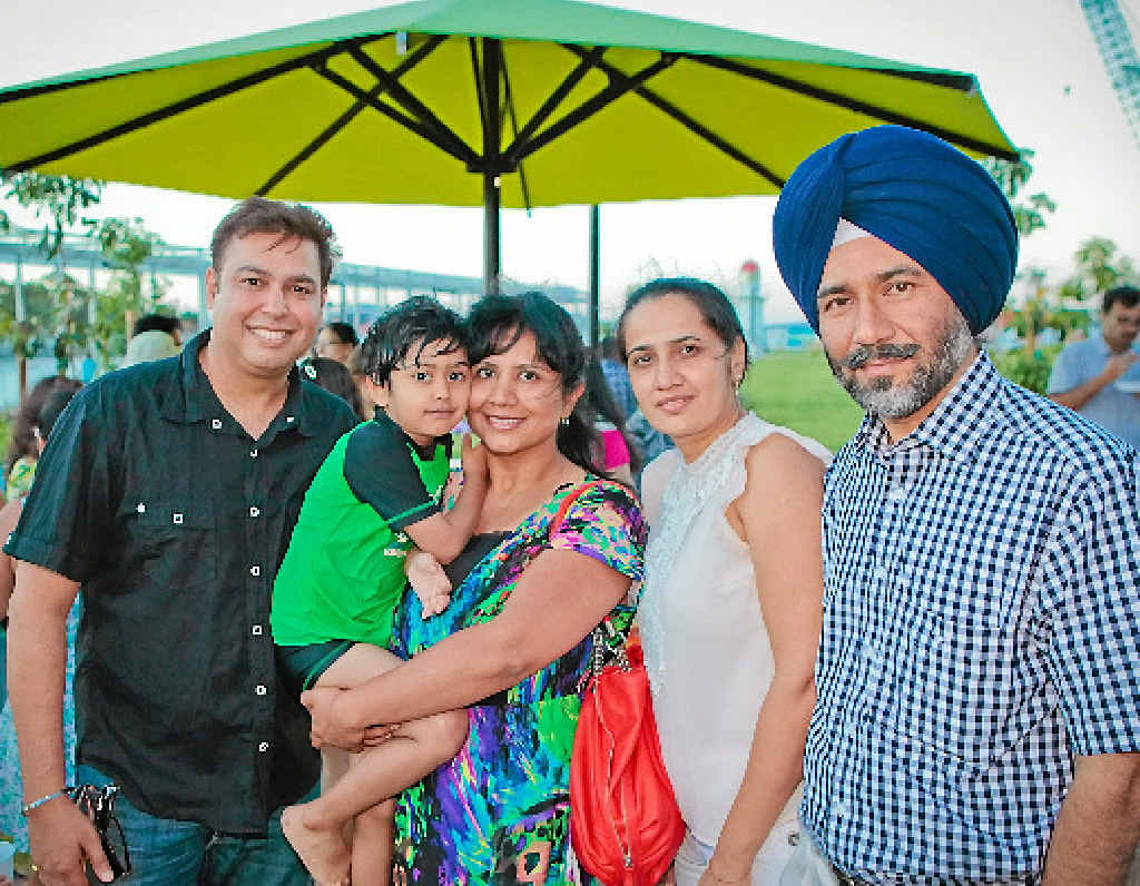 FOND ADIEU: Amit and Shruti Gulati and their son Ruhaan, 4, with their close friends and doctors, Jaspreet and Amarpreet Kanwar, at the farewell.