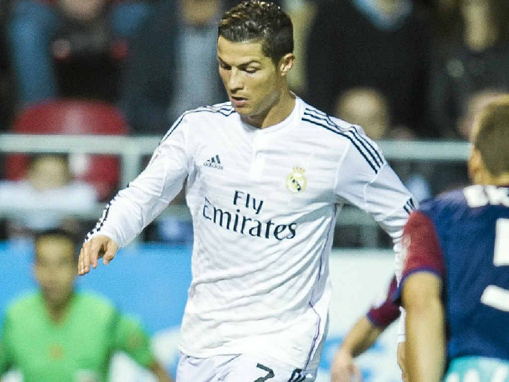 STAR ATTRACTION: Cristiano Ronaldo, who scored twice in Real Madrid's 4-0 triumph over Eibar, could play for Real in Melbourne in July.
