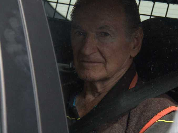 IN CUSTODY: Vince O'Dempsey pictured just after his arrest in relation to the McCulkin cold case.