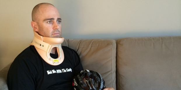 John Boyles is resting at home after a hit-and-run left him with two broken vertebrae. Photo / Natalie Akoorie
