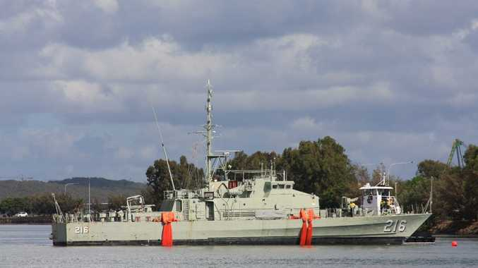 The HMAS Gladstone will be transformed into a tourist attraction at its East Shores mooring.
