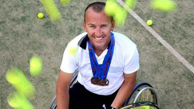 Wheel Chair tennis player David Johnson. Photo: John Gass / Tweed Daily News