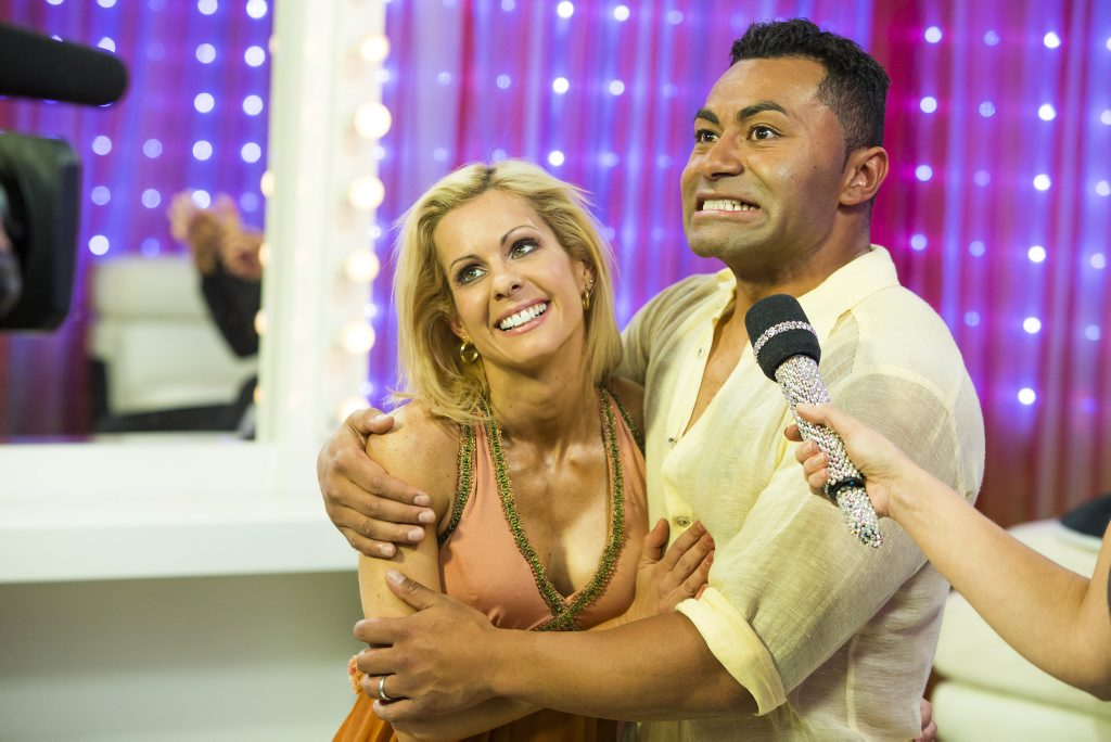 Dancing With The Stars winner David Rodan and his dance partner Melanie Hooper.