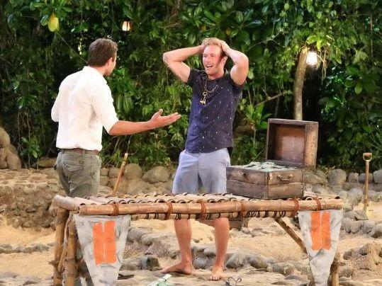 The Big Adventure winner Mark Sellar pictured with host Jason Dundas.