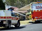 A man has been injured and a home destroyed in a fire on Wattlebird Drive, Elimbah on Tuesday morning. Photo Vicki Wood / Caboolture News