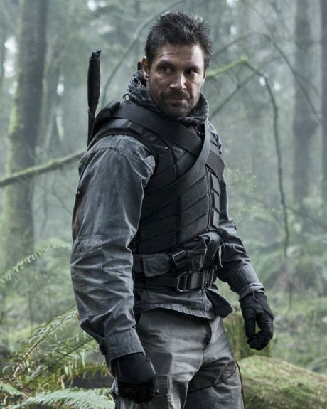 Actor Manu Bennett pictured as Slade Wilson in Arrow.