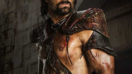 Manu Bennett as Crixus in Spartacus: War of the Damned.
