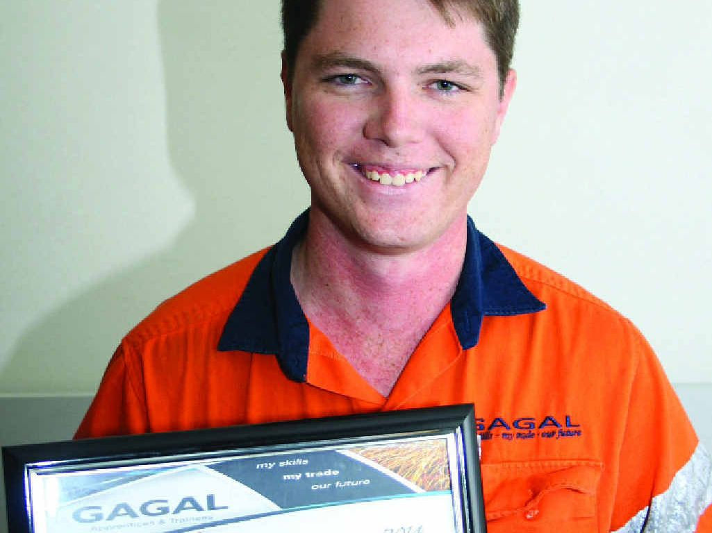DESERVED GONG: Col Brown Memorial Award recipient and apprentice electrician, Lachlan Muller.