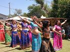"Members of the Bollywood Sisters dance school performed their version of ""joyful modern Indian dance"" for the crowd at the Mullum Music Festival."