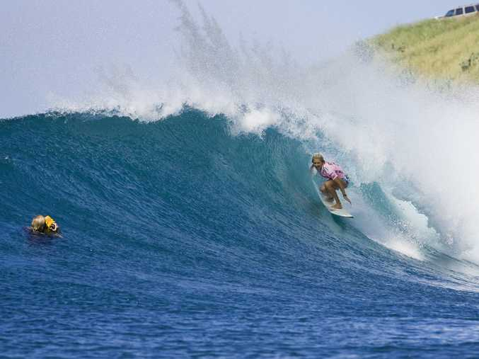 Kingscliff's Stephanie Gilmore winning her fourth consecutive World title at Honolua Bay, Maui in 2009.