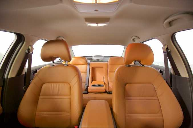 Luxury Ford Falcon models are available with tan interiors.