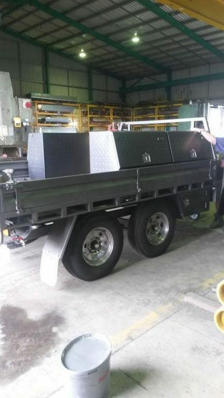 A specialist trailer owned by Denny's Engineering in Allora was stolen from an Oakey jobsite on November 14. Photo Contributed