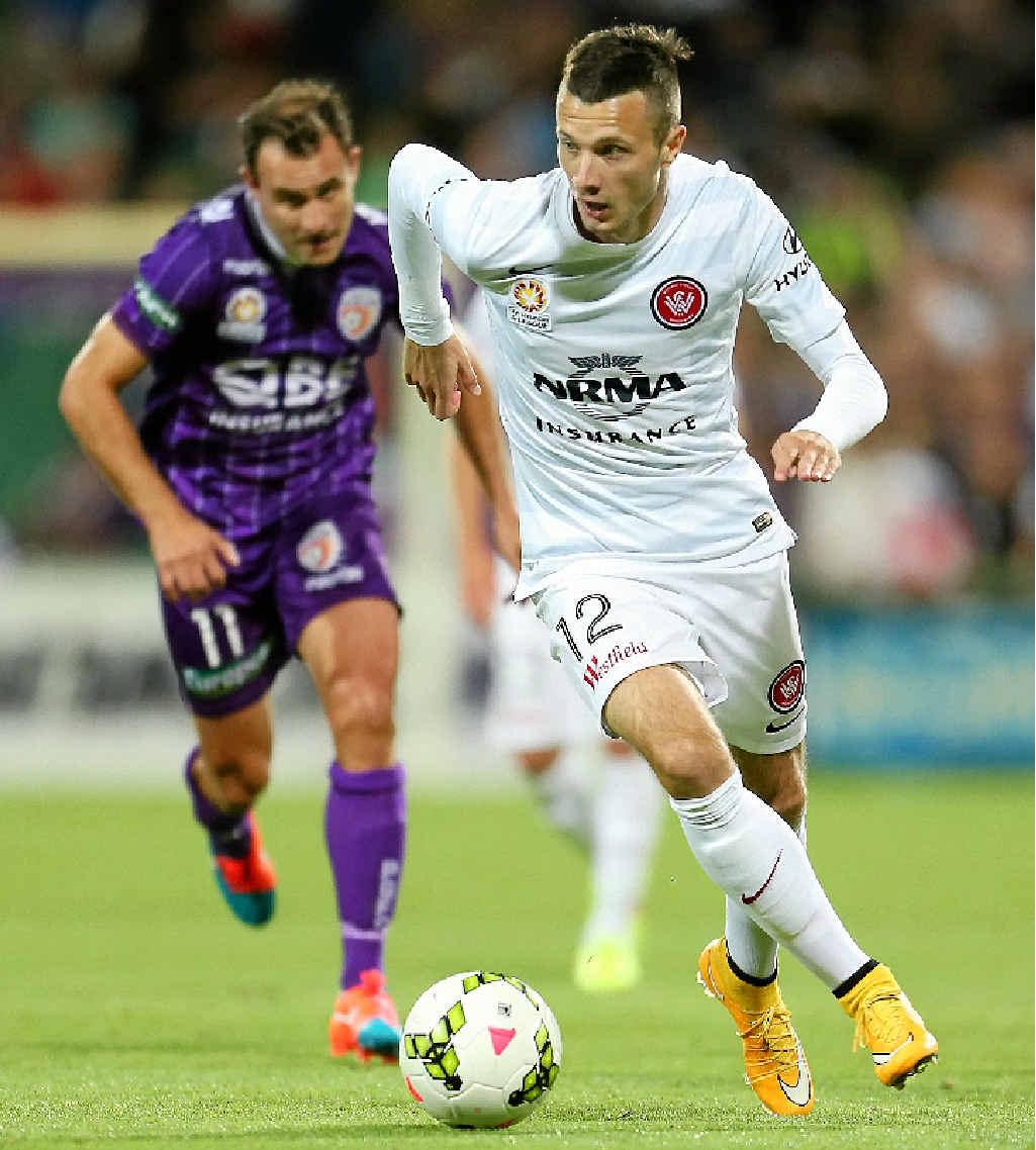 GRUDGE MATCH: Western Sydney Wanderers striker Nikita Rukavytsya is looking forward to playing in his first Sydney derby this weekend.